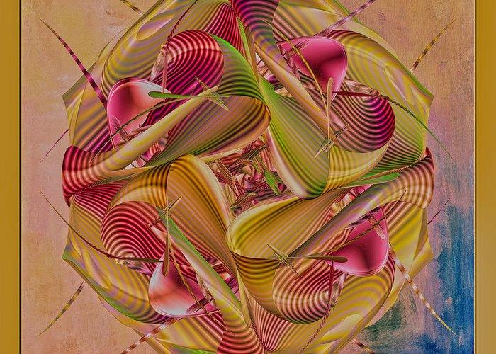 Digital Art Greeting Card featuring the digital art Pin Stripe City by Deborah Benoit