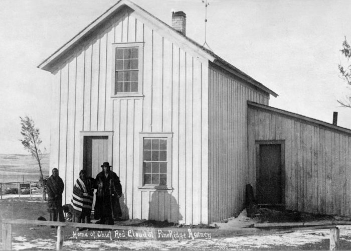 1891 Greeting Card featuring the photograph Pine Ridge Agency, C1891 by Granger