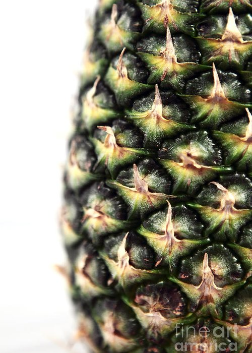 Pineapple Half Greeting Card featuring the photograph Pineapple Half by John Rizzuto