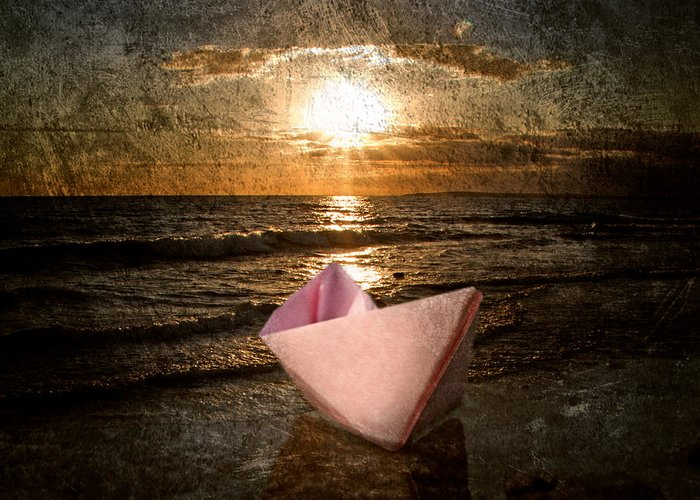 Art Greeting Card featuring the photograph Pink Dreams by Stelios Kleanthous