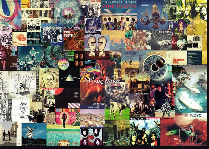 Pink Floyd Greeting Card featuring the digital art Pink Floyd Collage II by Zapista Zapista