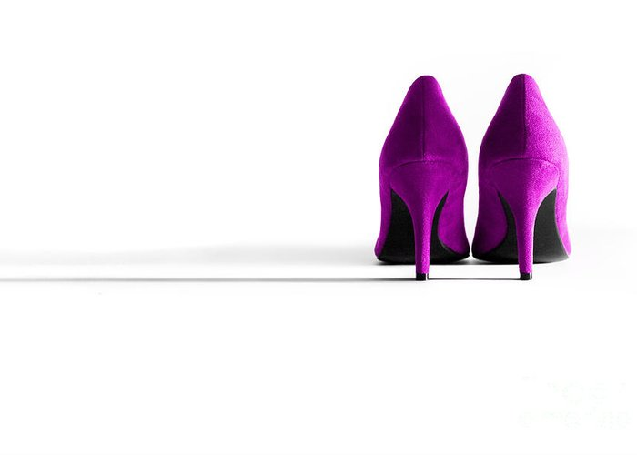 Shoe Greeting Card featuring the photograph Pink High Heel Shoes by Natalie Kinnear