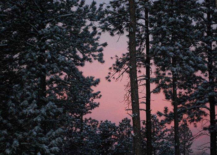 Dakota Greeting Card featuring the photograph Pink Mountain Morning by Dakota Light Photography By Dakota