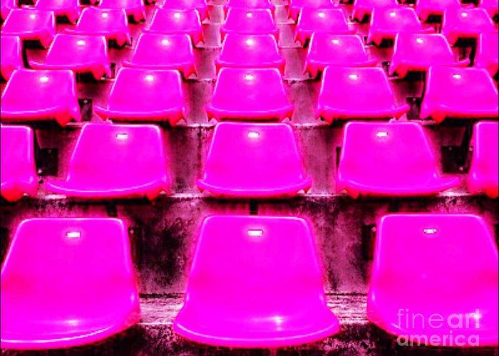 Stadium Design Mixed Media Greeting Cards