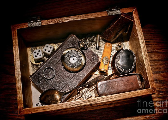 Keepsake Greeting Card featuring the photograph Pioneer Keepsake Box by Olivier Le Queinec