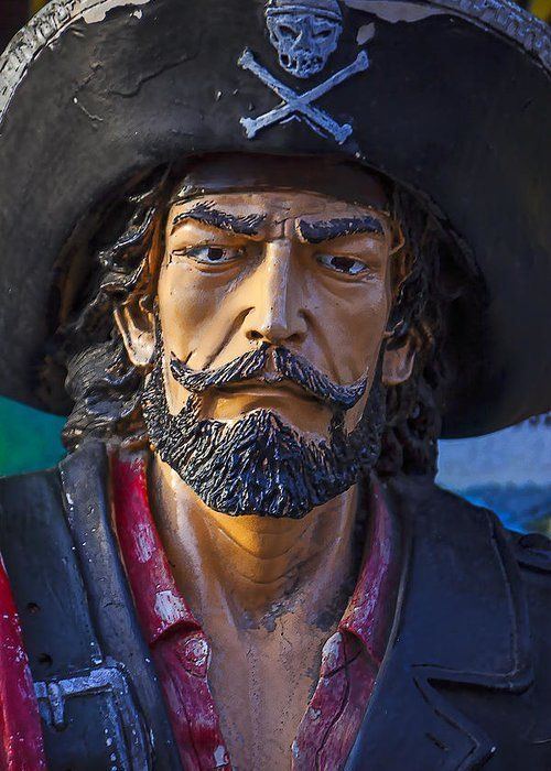 Pirate Greeting Card featuring the photograph Pirate Captain by Garry Gay
