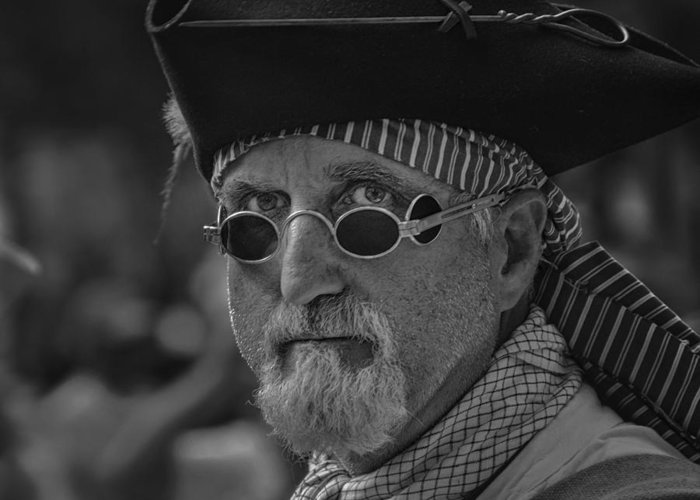 Parade Greeting Card featuring the photograph Pirate by Mario Celzner
