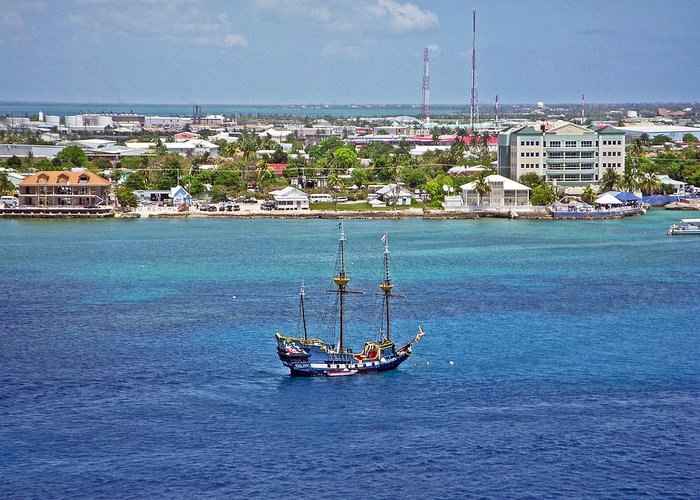 Pirate Ship Greeting Card featuring the photograph Pirate Ship In Cozumel by Aimee L Maher Photography and Art Visit ALMGallerydotcom