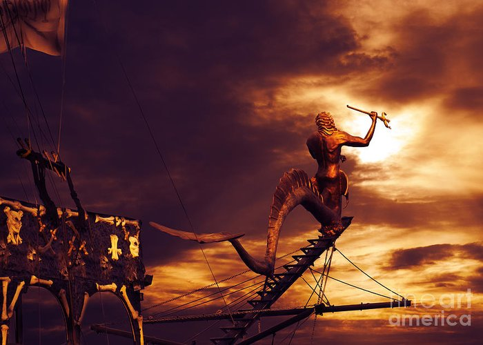 Pirate Greeting Card featuring the photograph Pirate Ship by Jelena Jovanovic