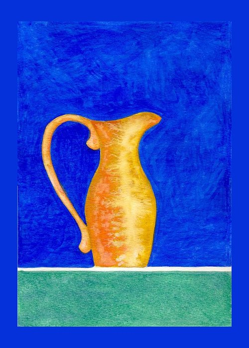 Still Life Greeting Card featuring the painting Pitcher 2 by Micah Guenther