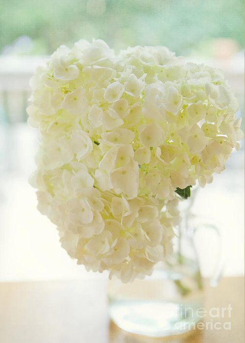 Floral Greeting Card featuring the photograph Pitcher Of Hydrangeas by Kay Pickens