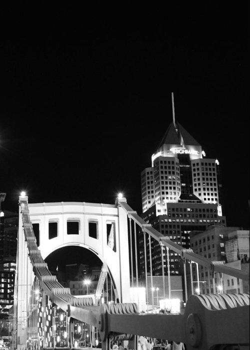 Pittsburgh Greeting Card featuring the photograph Pittsburgh Bridge by Josh Ebel