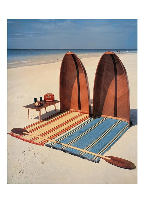Accessories Greeting Card featuring the photograph Pixie Collapsible Boat On The Beach by Lois and Joe Steinmetz