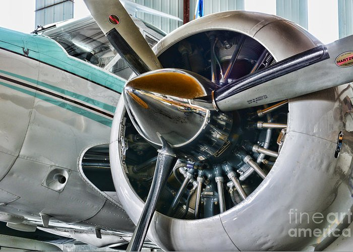 Paul Ward Greeting Card featuring the photograph Plane First Class by Paul Ward