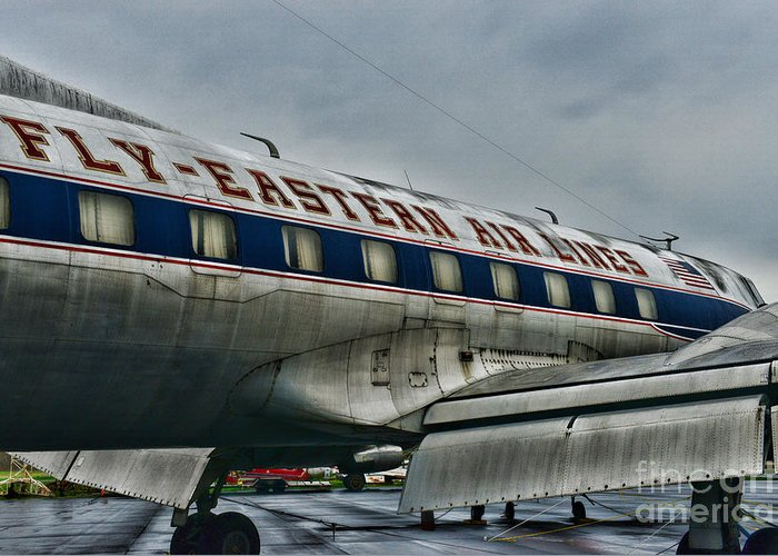 Paul Ward Greeting Card featuring the photograph Plane Fly Eastern Air Lines by Paul Ward