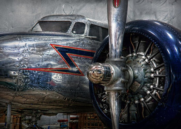 Plane Greeting Card featuring the photograph Plane - Hey Fly Boy by Mike Savad