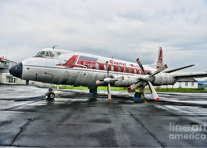 Paul Ward Greeting Card featuring the photograph Plane Props On Capital Airlines by Paul Ward