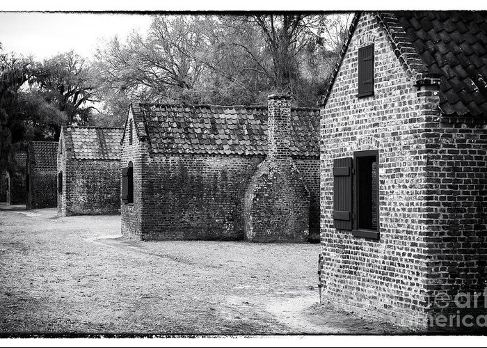 Plantation Quarters Greeting Card featuring the photograph Plantation Quarters by John Rizzuto