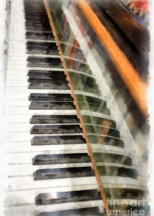 Piano Greeting Card featuring the photograph Play It Again Sam by Edward Fielding