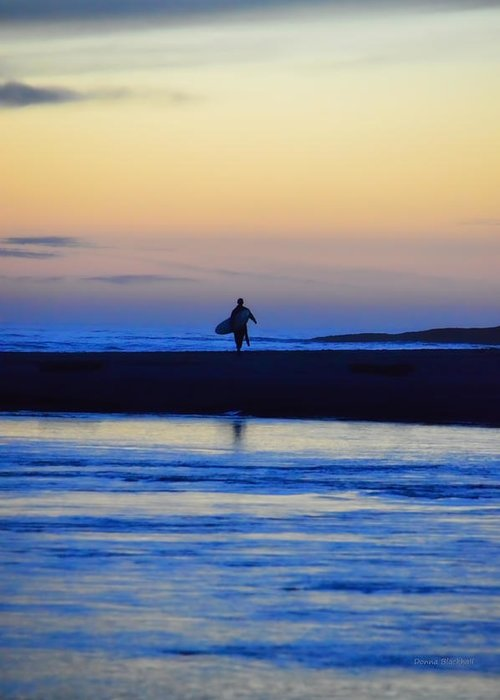 Surf Greeting Card featuring the photograph Played Out by Donna Blackhall