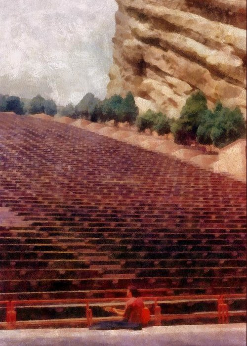 Red Rocks Greeting Card featuring the photograph Playing At Red Rocks by Michelle Calkins