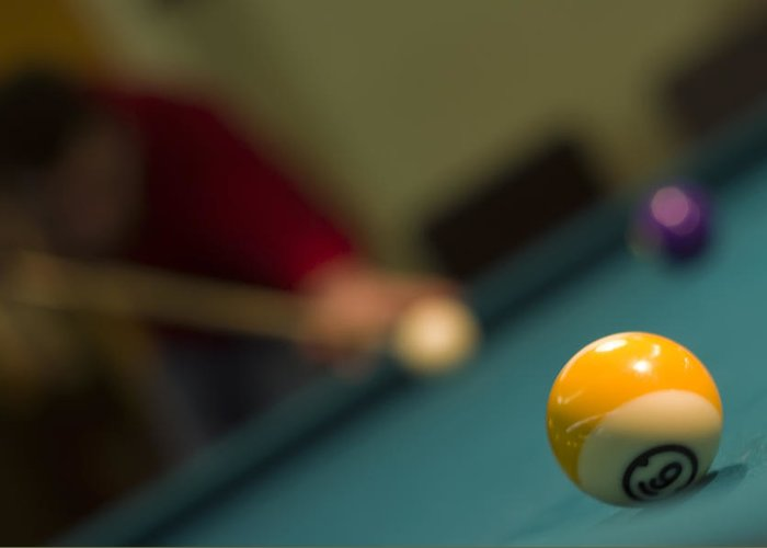 Ball Greeting Card featuring the photograph Playing Pool by Ioan Panaite