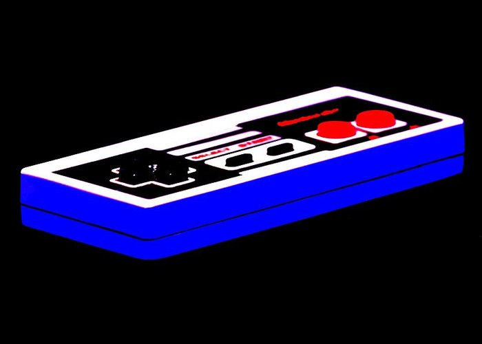 Nintendo Greeting Card featuring the photograph Playing With Power by Benjamin Yeager