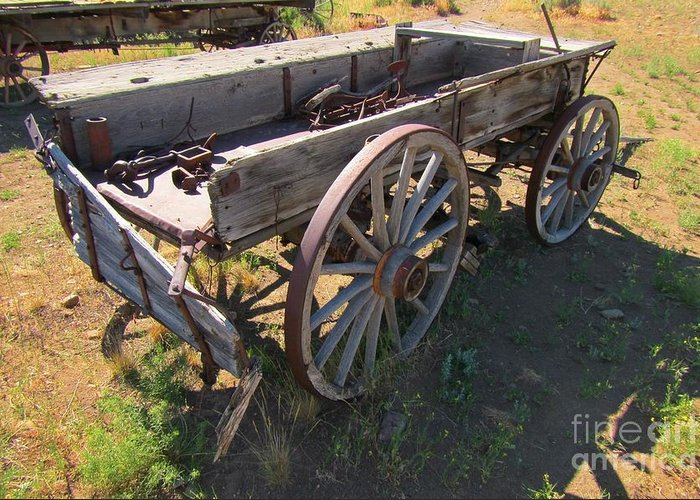 Wagons Greeting Card featuring the photograph Please Dont Kick The Tires by John Malone
