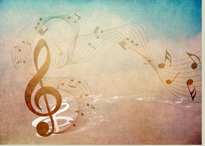 Music Greeting Card featuring the mixed media Please Dont Stop The Music by Angelina Vick