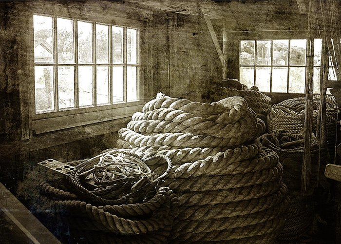 Cindi Ressler Greeting Card featuring the photograph Plymouth Cordage Company Ropewalk by Cindi Ressler