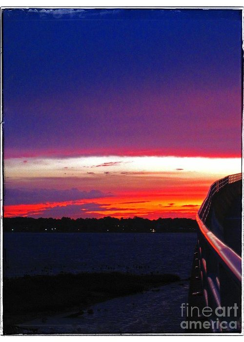 Sunset Greeting Card featuring the photograph Pn Sunset by Heather Taylor