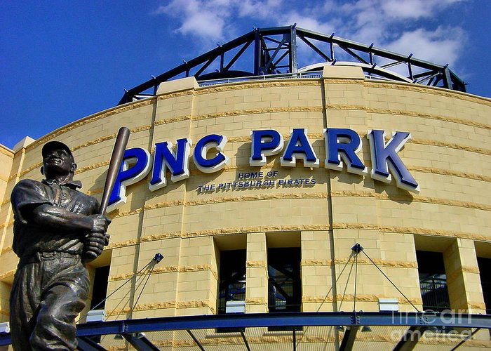 Alleghen County Greeting Card featuring the photograph Pnc Park Baseball Stadium Pittsburgh Pennsylvania by Amy Cicconi