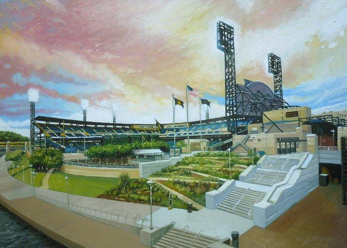 Pennsylvania Baseball Parks Paintings Greeting Cards