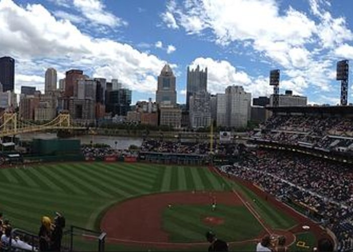 Baseball Parks Greeting Card featuring the photograph Pnc Park by Shelley Johnsen