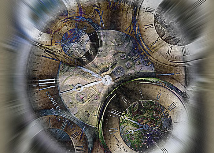 Watch Greeting Card featuring the photograph Pocketwatches 2 by Steve Ohlsen