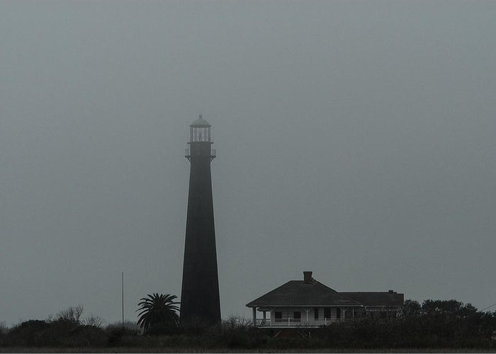Lighthouse Greeting Card featuring the photograph Bolivar Lighthouse I by David Mortenson