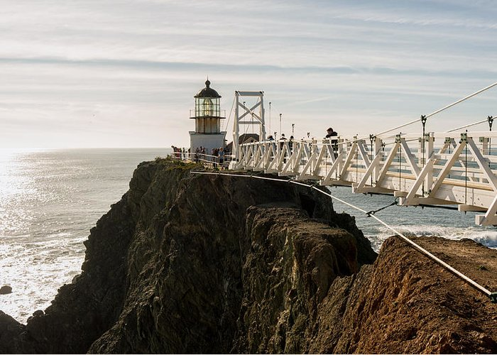 California Greeting Card featuring the photograph Point Bonita Lighthouse by Georgia Fowler