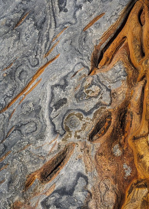 Copyrighted Greeting Card featuring the photograph Point Lobos Abstract 4 by Mike Penney
