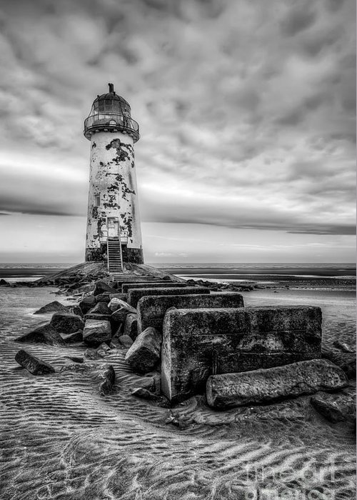 Lighthouse Greeting Card featuring the photograph Point Of Ayre Lighthouse by Adrian Evans