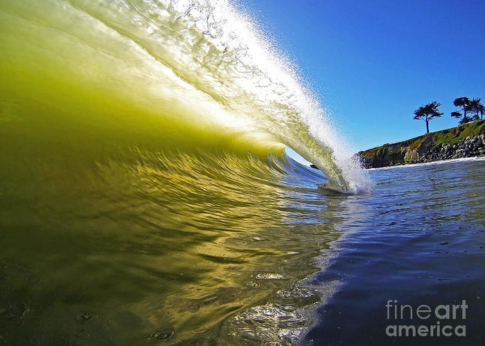 Wave Greeting Card featuring the photograph Point Of Contact by Paul Topp