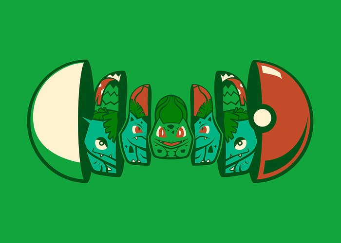 Pokemon Greeting Card featuring the digital art Poketryoshka - Grass Type by Michael Myers