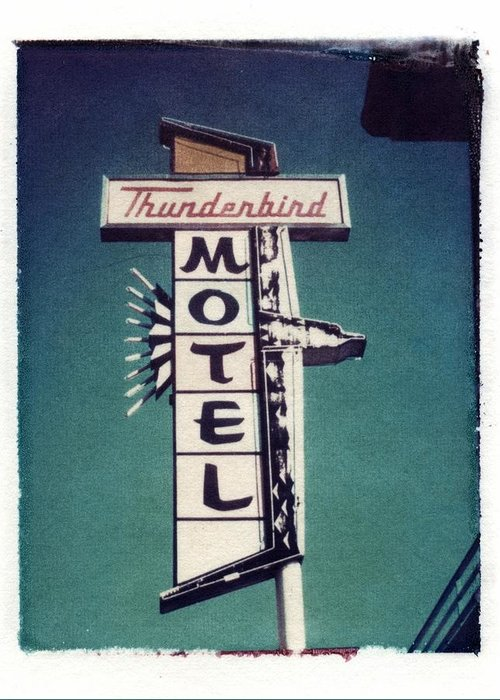 Motel Greeting Card featuring the photograph Polaroid Transfer Motel by Jane Linders