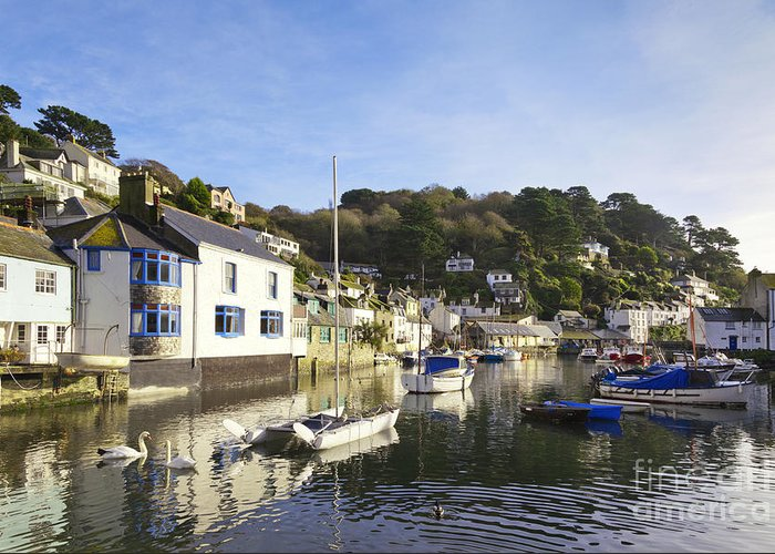 Boats Greeting Card featuring the photograph Polperro Cornwall England by Colin and Linda McKie
