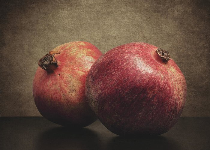 Pomegranate Greeting Card featuring the photograph Pomegranate by Taylan Apukovska