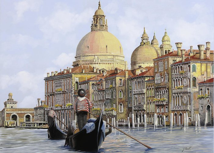 Italy Canal Greeting Cards