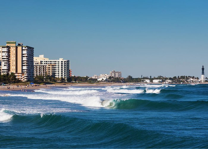 Tranquility Greeting Card featuring the photograph Pompano Beach, Florida, Exterior View by Walter Bibikow