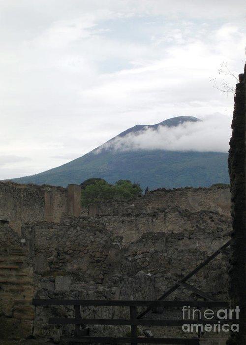 Pompeii Greeting Card featuring the photograph Pompeii Beneath Vesuvius by Deborah Smolinske