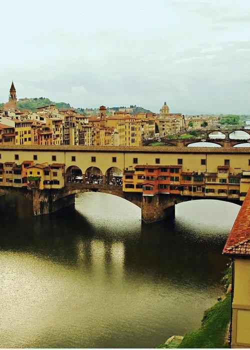 Ponte Vecchio Greeting Card featuring the photograph Ponte Vecchio 2 by Ellen Henneke