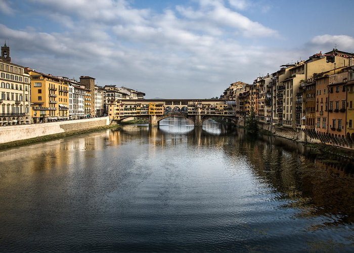 Italy Greeting Card featuring the photograph Ponte Vecchio by Dave Bowman