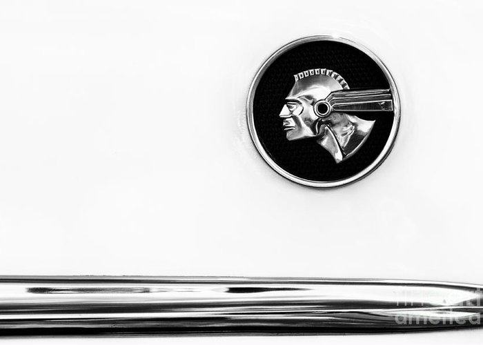 Pontiac Greeting Card featuring the photograph Pontiac Eight Chieftain Monochrome by Tim Gainey